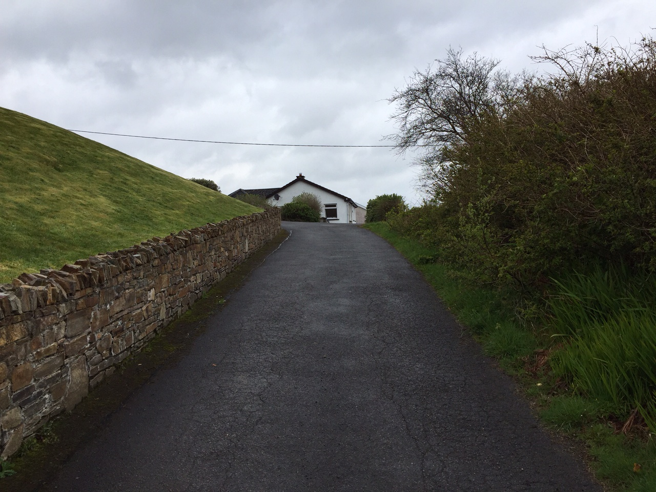 5. As you go up this road/lane, you will see the gable end of Artists View.